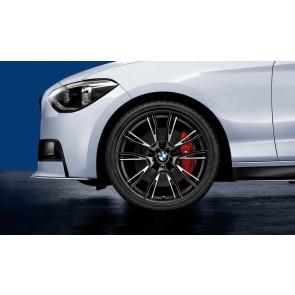 BMW Kompletträder M Doppelspeiche 624 bicolor (jet black matt / glanzgefräst) 19 Zoll 1er F20 F21 2er F22 F23 RDCi (Mischbereifung)