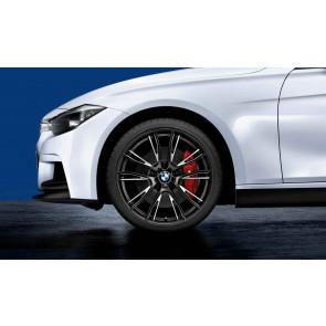 BMW Alufelge M Doppelspeiche 624 bicolor (schwarz matt / glanzgefräst) 8J x 20 ET 36 Vorderachse 3er F30 F31 4er F32 F33 F36