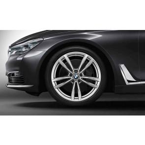 BMW Alufelge M Doppelspeiche 647 bicolor (ferricgrey / glanzgedreht) 9,5J x 19 ET 39 Hinterachse 6er G32 7er G11 G12