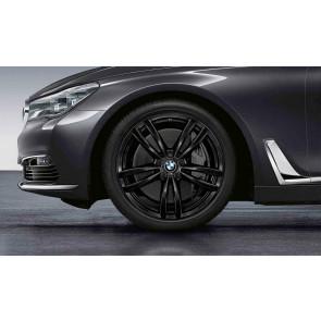 BMW Alufelge M Doppelspeiche 647 schwarz 8,5J x 19 ET 25 Vorderachse 6er G32 7er G11 G12