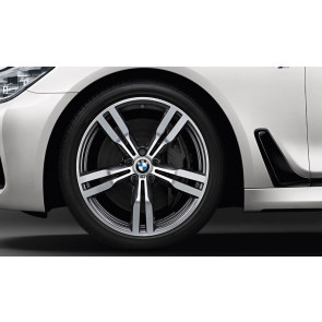 BMW Kompletträder M Doppelspeiche 648 bicolor (orbitgrey / glanzgedreht) 20 Zoll 6er G32 7er G11 G12 RDCi (Mischbereifung)