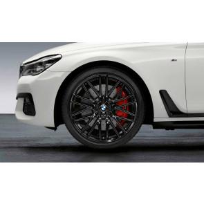 BMW Alufelge M Doppelspeiche 650 schwarz glänzend 8,5J x 21 ET 25 Vorderachse 6er G32 7er G11 G12