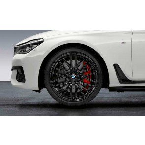 BMW Alufelge M Doppelspeiche 650 schwarz glänzend 10J x 21 ET 41 Hinterachse 6er G32 7er G11 G12