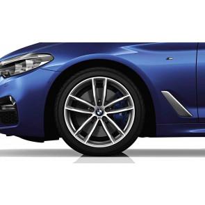 BMW Alufelge M Doppelspeiche 662 bicolor (orbitgrau / glanzgedreht) 8J x 18 ET 30 Vorderachse / Hinterachse 5er G30 G31