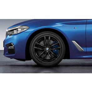 BMW Kompletträder M Doppelspeiche 662 schwarz glänzend 18 Zoll 5er G30 G31 RDCi