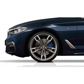 BMW Kompletträder M Doppelspeiche 668 bicolor (ceriumgrey matt / glanzgedreht) 20 Zoll 5er G30 G31 RDCi