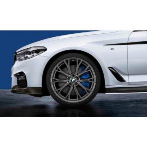 BMW Kompletträder M Doppelspeiche 669 bicolor (orbitgrey / glanzgefräst) 20 Zoll 5er G30 G31