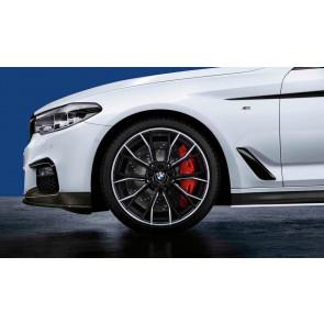BMW Alufelge M Doppelspeiche 669 bicolor (schwarz matt / glanzgedreht) 8J x 20 ET 30 Vorderachse 5er G30 G31