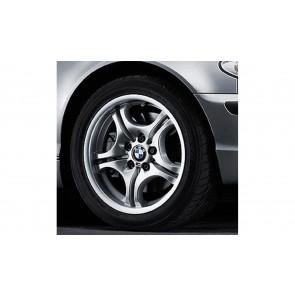 BMW Alufelge M Doppelspeiche 68 8,5J x 17 ET 50 Silber Hinterachse BMW 3er E46