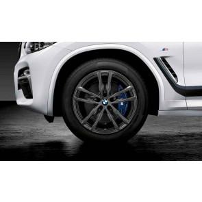 BMW Winterkompletträder M Doppelspeiche 698 orbitgrey 19 Zoll X3 G01 X4 G02 RDCi