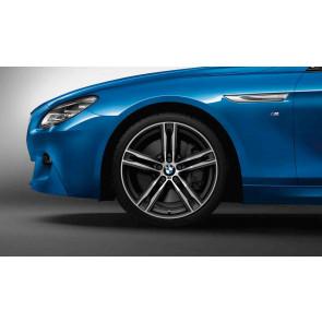 BMW Alufelge M Doppelspeiche 703 bicolor (orbitgrey / glanzgedreht) 9J x 20 ET 44 Hinterachse 6er F06 F12 F13