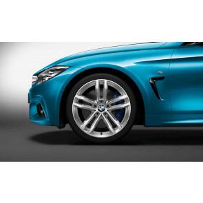 BMW Alufelge M Doppelspeiche 704 bicolor (ferricgrey / glanzgedreht) 8J x 19 ET 36 Vorderachse BMW 3er F30 F31 4er F32 F33 F36