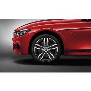 BMW Alufelge M Doppelspeiche 704 bicolor (orbitgrey / glanzgedreht) 8,5J x 19 ET 47 Hinterachse BMW 3er F30 F31 4er F32 F33 F36
