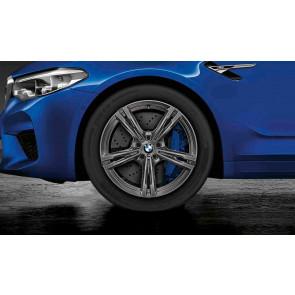 BMW Winterkompletträder M Doppelspeiche 705 ferricgrey 19 Zoll M5 F90 M8 F91 F92 RDCi