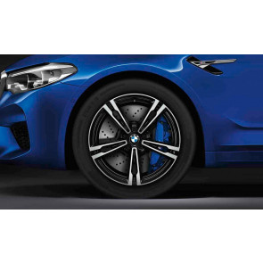 BMW Alufelge M Doppelspeiche 705 bicolor (orbitgrey / glanzgedreht) 10,5J x 19 ET 28 Hinterachse M5 F90