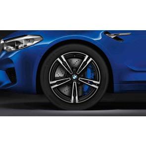 BMW Winterkompletträder M Doppelspeiche 705 bicolor (orbitgrey / glanzgedreht) 19 Zoll M5 F90 RDCi (Mischbereifung)