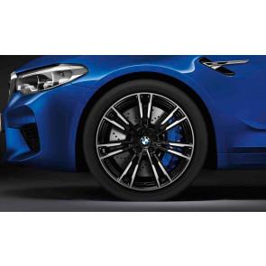 BMW Alufelge M Doppelspeiche 706 bicolor (schwarz / glanzgedreht) 10,5J x 20 ET 28 Hinterachse M5 F90