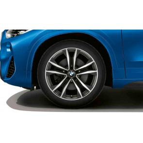 BMW Alufelge M Doppelspeiche 715 bicolor (orbitgrey / glanzgedreht) 8J x 19 ET 47 Vorderachse / Hinterachse X1 F48 X2 F39