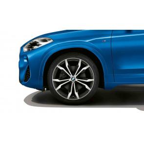 BMW Alufelge M Doppelspeiche 716 bicolor (schwarz / glanzgedreht) 8J x 20 ET 50 Vorderachse / Hinterachse X1 F48 X2 F39