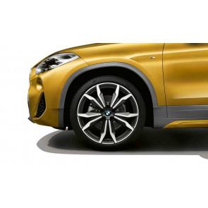 BMW Alufelge M Doppelspeiche 717 bicolor (orbitgrey / glanzgedreht) 8J x 20 ET 50 Vorderachse / Hinterachse X1 F48 X2 F39