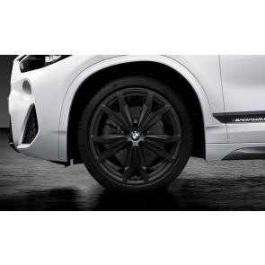 BMW Kompletträder M Doppelspeiche 717 jet black matt 20 Zoll X1 F48 X2 F39 RDCi
