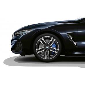 BMW Winterkompletträder M Doppelspeiche 727 bicolor (orbitgrey / glanzgedreht) 19 Zoll 8er G14 G15 G16 RDCi (Mischbereifung)