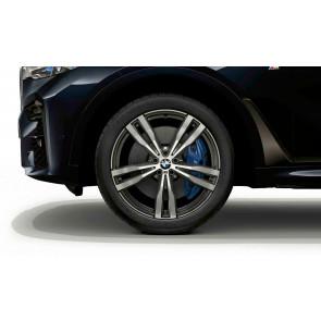 BMW Winterkompletträder M Doppelspeiche 754 bicolor (orbitgrey / glanzgedreht) 21 Zoll X7 G07 RDCi