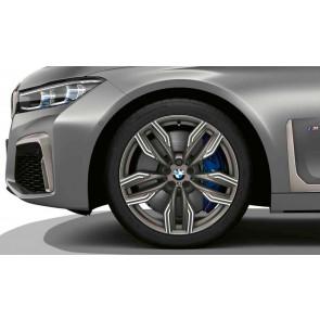 BMW Kompletträder M Doppelspeiche 760 bicolor (ceriumgrau matt / glanzgedreht) 20 Zoll 6er G32 7er G11 G12 RDCi (Mischbereifung)