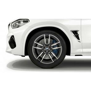 BMW Alufelge M Doppelspeiche 764 bicolor (orbitgrey / glanzgedreht) 9J x 20 ET 28 Vorderachse X3M F97 X4M F98