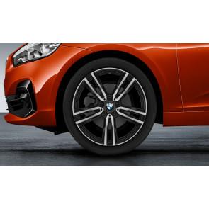 BMW Alufelge M Doppelspeiche 766 bicolor (schwarz matt / glanzgedreht) 8J x 19 ET 57 Vorderachse / Hinterachse 2er F45 F46