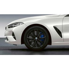 BMW Winterkompletträder M Performance Doppelspeiche 786 schwarz matt 19 Zoll 5er G30 G31 RDCi (Mischbereifung)