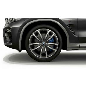 BMW Kompletträder M Doppelspeiche 787 bicolor (orbitgrey / glanzgedreht) 20 Zoll X3 G01 X4 G02 RDC (Mischbereifung)