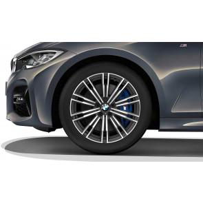 BMW Winterkompletträder M Doppelspeiche 790 bicolor (orbitgrey / glanzgedreht) 18 Zoll 3er G20 G21 4er G22 G23 RDC (Mischbereifung)