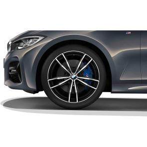 BMW Kompletträder M Doppelspeiche 791 bicolor (jet black uni / glanzgedreht) 19 Zoll 3er G20 G21 G28 RDC (Mischbereifung)
