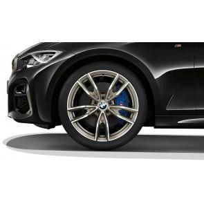 BMW Alufelge M Doppelspeiche 792 bicolor (ceriumgrey / glanzgedreht) 8,5J x 19 ET 40 Hinterachse 3er G20 G21