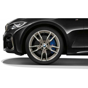 BMW Kompletträder M Doppelspeiche 792 bicolor (ceriumgrey / glanzgedreht) 19 Zoll 3er G20 G21 G28 4er G22 RDCi