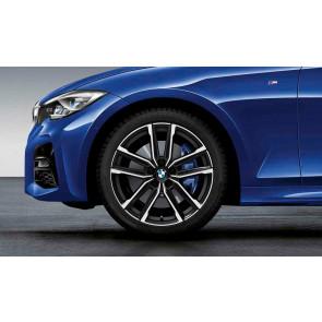 BMW Kompletträder M Doppelspeiche 797 bicolor (jet black matt / glanzgedreht) 19 Zoll 3er G20 G21 G28 4er G22 RDCi