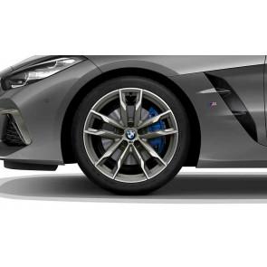 BMW Alufelge M Doppelspeiche 800 bicolor (ceriumgrey / glanzgedreht) 9J x 19 ET 32 Vorderachse Z4 G29