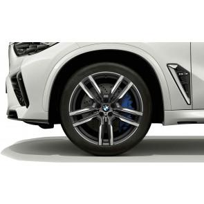 BMW Winterkompletträder M Doppelspeiche 808 orbitgrey 21 Zoll X5M F95 X6M F96 RDCi