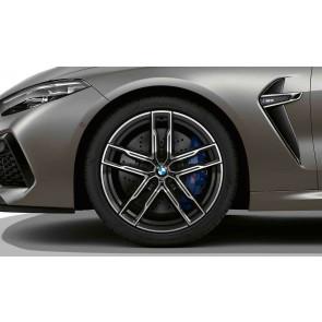 BMW Alufelge M Doppelspeiche 810 bicolor (orbitgrey / glanzgedreht) 9,5J x 20 ET 28 Vorderachse M8 F91 F92