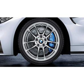 BMW Winterkompletträder M V-Speiche 640 silber 18 Zoll M3 F80 M4 F82 F83 RDCi (Mischbereifung)