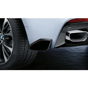 BMW M Performance Aerodynamikpaket Heck Flap hochglanz schwarz X6 F16