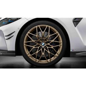 BMW Kompletträder M Performance Kreuzspeiche 1000 frozen bronze matt (geschmiedet) 20 / 21 Zoll M3 G80 M4 G82 RDC (Mischbereifung)