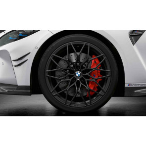 BMW Kompletträder M Performance Kreuzspeiche 1000 jet black matt (geschmiedet) 20 / 21 Zoll M3 G80 M4 G82 RDC (Mischbereifung)