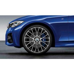 BMW Kompletträder M Performance Kreuzspeiche 794 bicolor (jet black uni / glanzgedreht) 20 Zoll 3er G20 4er G22 RDCi (Mischbereifung)