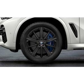 BMW Alufelge M Performance Sternspeiche 748 schwarz matt 9J x 20 ET 35 Vorderachse / Hinterachse X5 G05 X6 G06