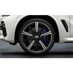 BMW Alufelge M Performance Sternspeiche 749 bicolor (schwarz / glanzgedreht) 10,5J x 22 ET 43 Hinterachse X5 G05 X6 G06