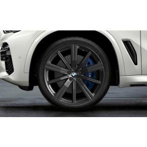 BMW Alufelge M Performance Sternspeiche 749 schwarz matt 9,5J x 22 ET 37 Vorderachse X5 G05 X6 G06