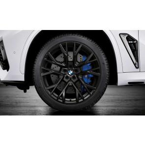 BMW Kompletträder M Performance Sternspeiche 809 schwarz matt 21 / 22 Zoll X5M F95 X6M F96 RDCi (Mischbereifung)