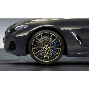 BMW Alufelge M Performance Vielspeiche 732 bicolor (night gold / glanzgefräst) 9J x 20 ET 41 Hinterachse 8er G14 G15 G16